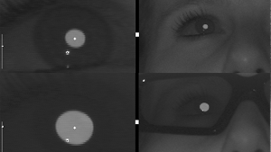 Eye tracking Bright pupil method